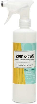 Indigo Wild, Zum Clean, Granite & Countertop Cleaner, Eucalyptus-Citrus, 16 fl oz 家庭,家用清潔劑,浴室清潔劑,廚房清潔劑