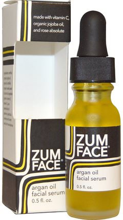 Zum Face, Argan Oil Facial Serum, 0.5 fl oz by Indigo Wild, 健康,皮膚,沐浴,美容油,面部護理油,維生素c HK 香港