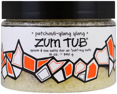 Zum Tub, Epsom & Sea Salts, Patchouli-Ylang Ylang, 12 oz (340 g) by Indigo Wild, 洗澡,美容,浴鹽 HK 香港