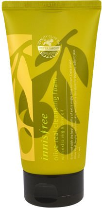 Innisfree, Olive Real Cleansing Foam, 5 oz (150 ml) 美容,面部護理,洗面奶,沐浴