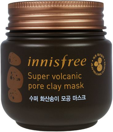 Super Volcanic Pore Clay Mask, 3.38 oz (100 ml) by Innisfree, 美容,面膜,泥面膜,浴 HK 香港