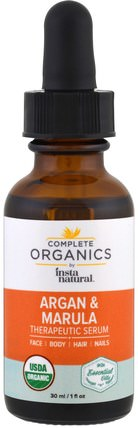 Complete Organics, Therapeutic Serum, Argan Marula Oil, 1 fl oz (30 ml) by InstaNatural, 健康,皮膚,按摩油 HK 香港