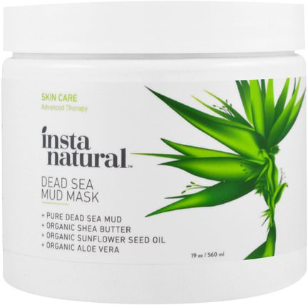 Dead Sea Mud Mask with Shea Butter, Face & Body, 19 oz (560 ml) by InstaNatural, 美容,面膜,泥面膜 HK 香港