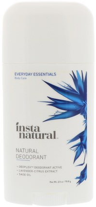 Natural Deodorant, 2.5 oz (70.8 g) by InstaNatural, 洗澡,美容,除臭劑 HK 香港