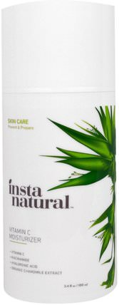 Vitamin C Moisturizer Cream with Hyaluronic Acid, Anti-Aging, 3.4 fl oz (100 ml) by InstaNatural, 美容,面部護理,維生素C,面霜,乳液 HK 香港