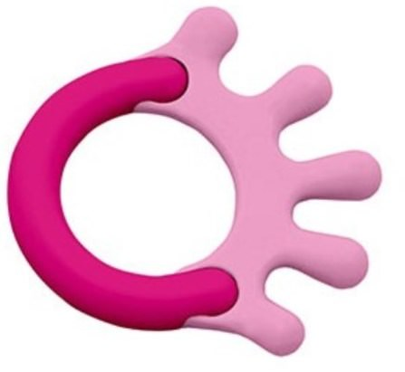 iPlay Green Sprouts, Cornstarch Hand Teether, Pink, 1 Teether 兒童健康,兒童玩具,出牙玩具