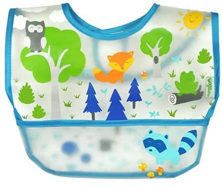 Wipe-off Bib, 9-18 Months, Blue, 1 Bib by iPlay Green Sprouts, 兒童健康,嬰兒,兒童 HK 香港