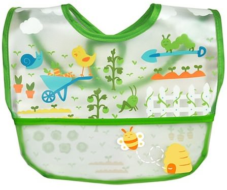Wipe-off Bib, 9-18 Months, Green, 1 Bib by iPlay Green Sprouts, 兒童健康,嬰兒,兒童 HK 香港