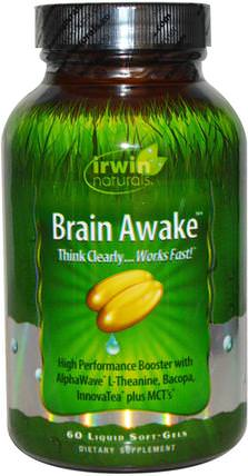 Brain Awake, 60 Liquid Soft-Gels by Irwin Naturals, 健康,注意力缺陷障礙,添加,adhd,腦 HK 香港