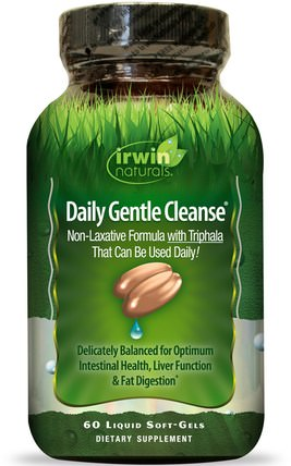 Daily Gentle Cleanse, 60 Liquid Soft-Gels by Irwin Naturals, 健康,排毒 HK 香港
