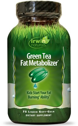 Green Tea Fat Metabolizer, 75 Liquid Soft-Gels by Irwin Naturals, 健康,飲食,減肥 HK 香港