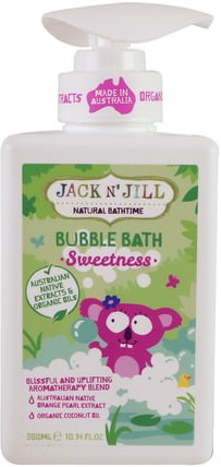 Natural Bathtime, Bubble Bath, Sweetness, 10.14 fl. oz (300 ml) by Jack n Jill, 洗澡,美容,泡泡浴 HK 香港