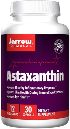 Astaxanthin, 12 mg, 30 Softgels by Jarrow Formulas, 補充劑,抗氧化劑,蝦青素 HK 香港
