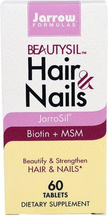 Jarrow Formulas, BeautySil Hair & Nails, 60 Tablets 健康,女性,頭髮補充劑,指甲補品,皮膚補充劑