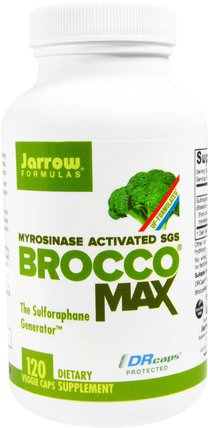 BroccoMax, Myrosinase Activated, 120 Veggie Caps by Jarrow Formulas, 補充劑,西蘭花十字花科,西蘭花提取物蘿蔔硫素 HK 香港