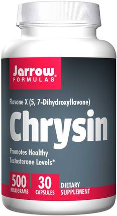 Chrysin, 500 mg, 30 Capsules by Jarrow Formulas, 維生素,生物類黃酮,白楊素 HK 香港