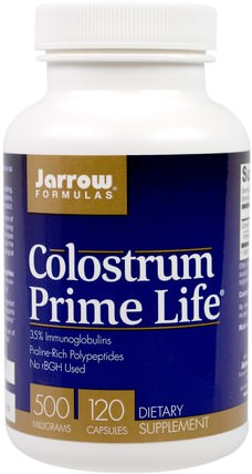 Colostrum Prime Life, 500 mg, 120 Capsules by Jarrow Formulas, 補品,牛製品,初乳 HK 香港
