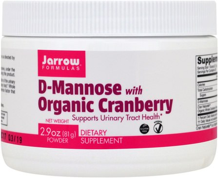 D-Mannose with Organic Cranberry, 2.9 oz (81 g) by Jarrow Formulas, 補充劑,d-甘露糖 HK 香港