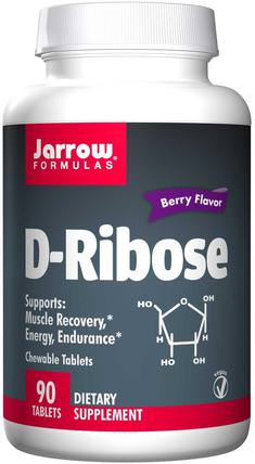 D-Ribose, Berry Flavor, 90 Chewable Tablets by Jarrow Formulas, 運動,核糖,能量 HK 香港