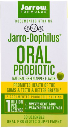 Jarro-Dophilus Oral Probiotic, 1 Billion, Natural Green Apple Flavor, 30 Lozenges by Jarrow Formulas, 補充劑,益生菌 HK 香港