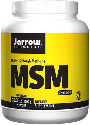 MSM Powder, 35.3 oz (1000 g) by Jarrow Formulas, 健康,骨骼,骨質疏鬆症,msm HK 香港
