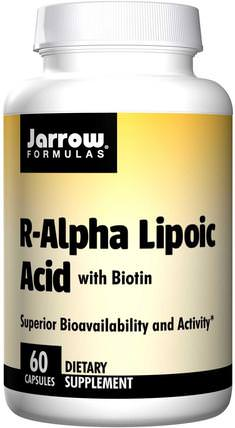 R-Alpha Lipoic Acid, with Biotin, 60 Capsules by Jarrow Formulas, 補充劑,抗氧化劑,α硫辛酸,α硫辛酸100毫克 HK 香港
