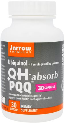 Ubiquinol, QH+ PQQ, 30 Softgels by Jarrow Formulas, 補充劑,抗氧化劑,泛醇qh,pqq(biopqq) HK 香港