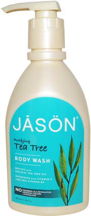 Body Wash, Purifying Tea Tree, 30 fl oz (887 ml) by Jason Natural, 洗澡,美容,沐浴露 HK 香港