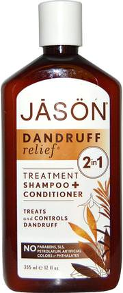Dandruff Relief, Shampoo + Conditioner, 12 fl oz (355 ml) by Jason Natural, 健康,皮炎 HK 香港