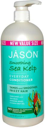 Everyday Conditioner, Smoothing Sea Kelp, 32 oz (907 g) by Jason Natural, 洗澡,美容,護髮素,頭髮,頭皮,洗髮水,護髮素 HK 香港