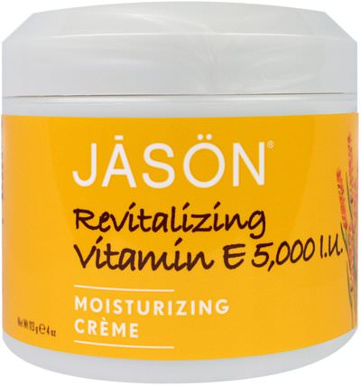 Revitalizing Vitamin E, 5.000 IU, 4 oz (113 g) by Jason Natural, 健康,皮膚,維生素E油霜,美容,面部護理,面霜,乳液 HK 香港
