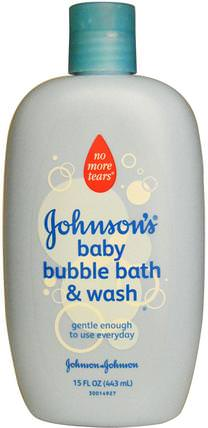 Baby Bubble Bath & Wash, 15 fl oz (443 ml) by Johnsons Baby, 洗澡,美容,泡泡浴 HK 香港