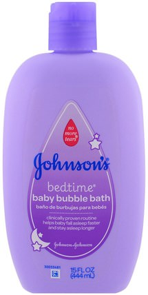 Baby Bedtime Bubble Bath, 15 fl oz (444 ml) by Johnsons Baby, 洗澡,美容,泡泡浴 HK 香港