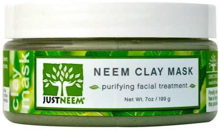 Neem Clay Mask, 7 oz (199 g) by Just Neem, 美容,面膜,泥面膜,沐浴,油 HK 香港
