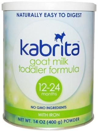 Kabrita, Goat Milk Toddler Formula with Iron, 14 oz (400 g) Powder 兒童健康,嬰兒配方奶粉和奶粉,山羊奶配方,常規餵養