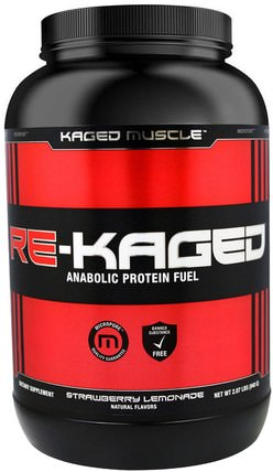 Re-Kaged, Anabolic Protein Fuel, Strawberry Lemonade, 2.07 lbs (940 g) by Kaged Muscle, 運動,肌肉,蛋白質,運動蛋白質 HK 香港