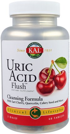 Uric Acid Flush, 60 Tablets by KAL, 健康,排毒 HK 香港