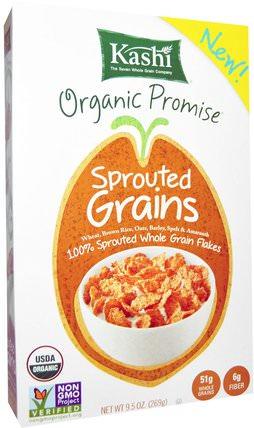 Organic Sprouted Grains, Cereal, 9.5 oz (269 g) by Kashi, 食物,食物,穀物 HK 香港