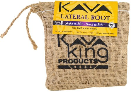 Lateral Root, 1/4 lb (113.4 g) by Kava King Products Inc, 草藥,卡瓦卡瓦,抗壓力情緒支持 HK 香港