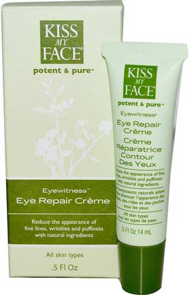 Eyewitness, Eye Repair Creme.5 fl oz (14 ml) by Kiss My Face, 美容,眼霜,面部護理,皮膚 HK 香港