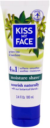 Moisture Shave, Green Tea & Bamboo, 3.4 fl oz (100 ml) by Kiss My Face, 洗澡,美容,剃須,身體護理 HK 香港
