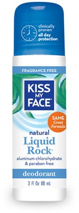 Natural Liquid Rock Deodorant, Fragrance Free, 3 fl oz (88 ml) by Kiss My Face, 洗澡,美容,除臭劑,身體護理 HK 香港