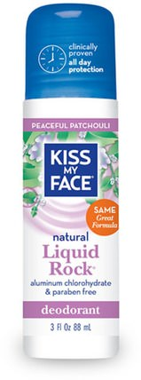 Natural Liquid Rock Deodorant, Peaceful Patchouli, 3 fl oz (88 ml) by Kiss My Face, 沐浴,美容,除臭劑,滾裝除臭劑,身體護理 HK 香港