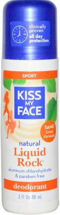 Natural Liquid Rock Deodorant, Sport, 3 fl oz (88 ml) by Kiss My Face, 洗澡,美容,身體護理,除臭劑 HK 香港
