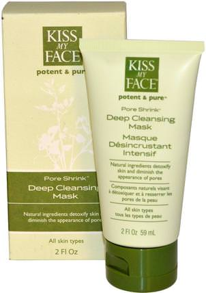 Potent & Pure, Pore Shrink, Deep Cleansing Mask, 2 fl oz (59 ml) by Kiss My Face, 美容,面部護理,皮膚,面膜,粉刺,瑕疵面膜 HK 香港