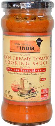 Rich Creamy Tomato Cooking Sauce, Mild, 12.2 oz (347 g) by Kitchens of India, 食物,醬汁和醃泡汁 HK 香港