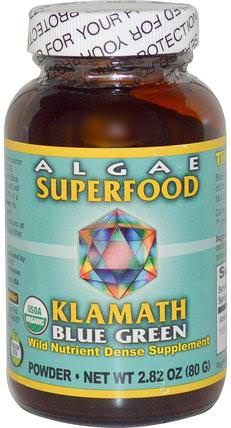 Power Organics, Algae Superfood Klamath Blue Green, 2.8 oz (80 g) by Klamath, 補品,超級食品,藍綠藻 HK 香港