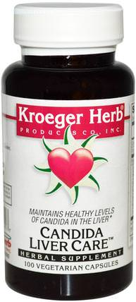 Candida Liver Care, 100 Veggie Caps by Kroeger Herb Co, 健康,念珠菌,肝臟支持 HK 香港