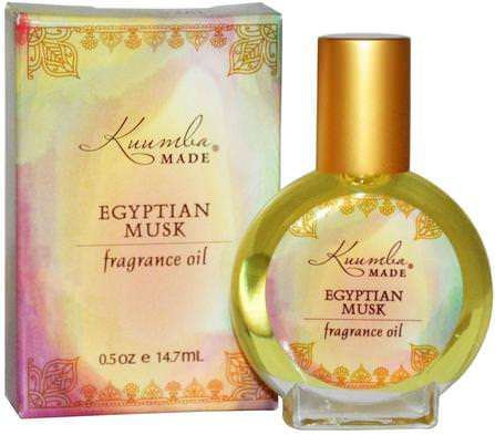Kuumba Made, Fragrance Oil, Egyptian Musk, 0.5 oz (14.7 ml) 洗澡,美容,香水噴霧