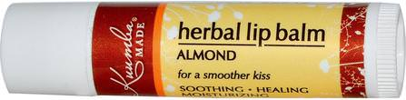 Kuumba Made, Herbal Lip Balm, Almond, 0.15 oz (4.25 g) 洗澡,美容,唇部護理,唇膏